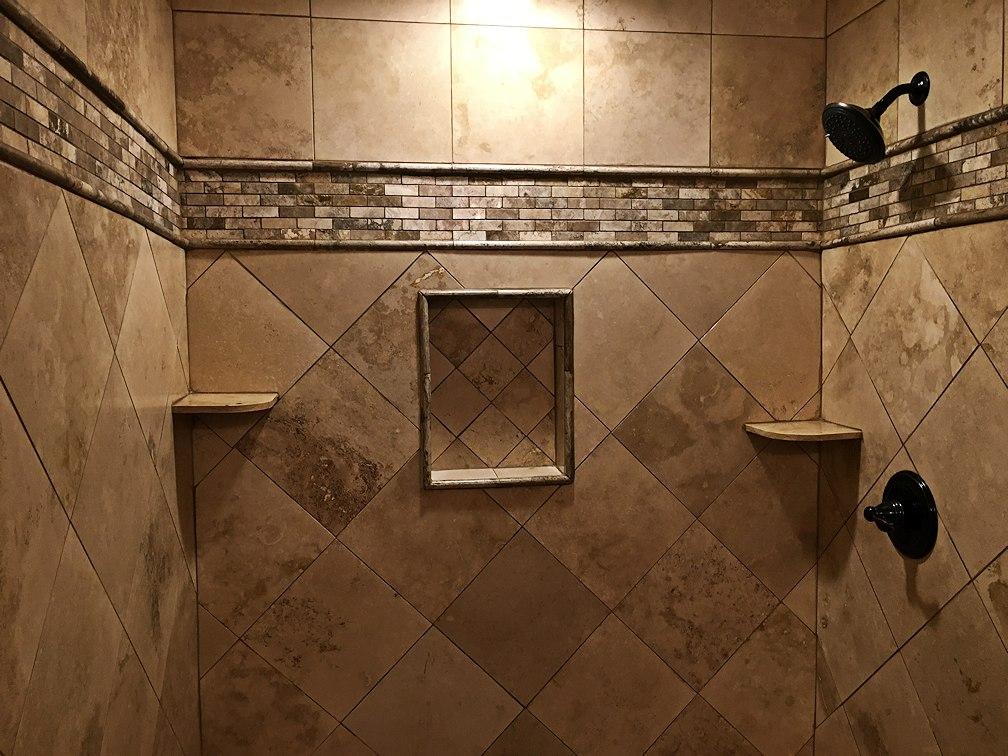 Travertine Tile Shower Install